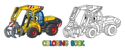 Free Funny Log Handler Car With Eyes Coloring Book Stock Photos - 128869673