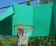 Funny looking basketball hoop Stock Image