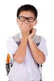 Funny looking boy Royalty Free Stock Photo