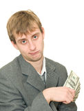 Funny looking dishevelled man Stock Image