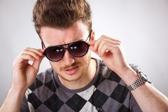 Funny looking guy with red hair Royalty Free Stock Photo