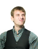 Funny-looking optimistic man Stock Photography