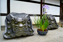 Funny looking statues Royalty Free Stock Image