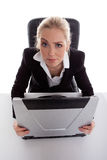 Funny lookining businesswoman Stock Images