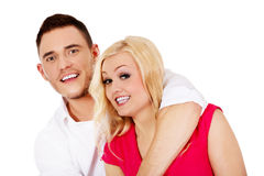 Funny love couple making stupid faces Royalty Free Stock Image