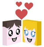 Funny love icon Stock Photos