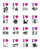 Funny love icon set Royalty Free Stock Photos