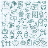 Funny love icons. Stock Image