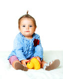 Funny lovely little baby girl Royalty Free Stock Photo