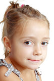 Funny lovely little girl Stock Photo