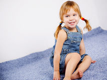 Funny lovely little girl Stock Images