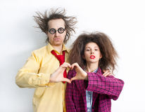 Funny loving couple Royalty Free Stock Photography