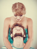 Funny loving couple making silly face Royalty Free Stock Photography