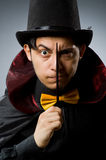 Funny magician man with wand Royalty Free Stock Photo