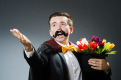 Funny magician with wand Stock Image
