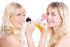 Funny make up Royalty Free Stock Photos
