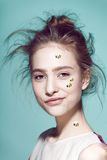 Funny make-up professional style for yong fashion Stock Images