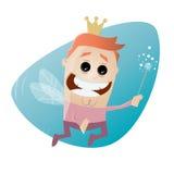 Funny male cartoon fairy Stock Photos
