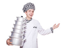 Funny male cook Stock Images