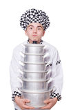 Funny male cook isolated Royalty Free Stock Photography