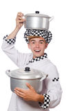 Funny male cook isolated Stock Photography