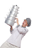 Funny male cook isolated Royalty Free Stock Image