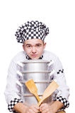 Funny male cook isolated Stock Photo