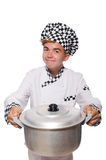 Funny male cook Stock Image