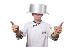 Funny male cook Royalty Free Stock Photos