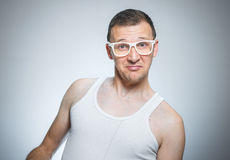 Funny male portrait Stock Images