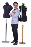Funny male tailor Stock Photo