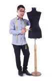 Funny male tailor Stock Photos