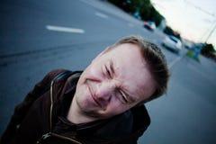 Funny man royalty free stock photo