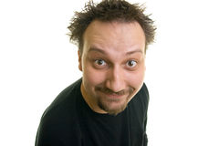 Funny man with the beard. Looks happy Stock Image