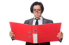 The funny man in business concept Stock Images