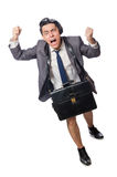The funny man in business concept Royalty Free Stock Photos