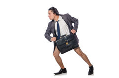 The funny man in business concept Stock Photo