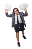 The funny man in business concept Royalty Free Stock Images