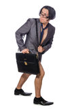 The funny man in business concept Stock Photos