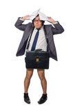 The funny man in business concept Royalty Free Stock Image
