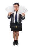 Funny man in business concept Stock Image