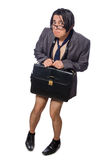 The funny man in business concept Stock Image