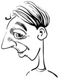 Funny man caricature stock images