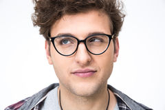 Funny man with curly hair Stock Photo