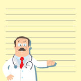 Funny man doctor Royalty Free Stock Photography
