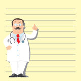 Funny man doctor Royalty Free Stock Photos