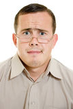 Funny man in glasses Royalty Free Stock Images