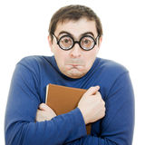Funny man in glasses Royalty Free Stock Photography