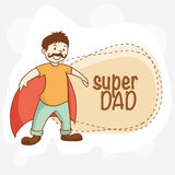 Funny man for Happy Fathers Day celebration. Royalty Free Stock Photos