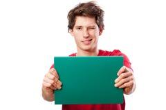 Funny man holding folder Stock Photography